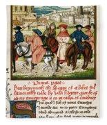Canterbury Pilgrims Fleece Blanket