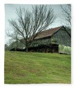Cantilever Barn Sevier County Tennessee Fleece Blanket