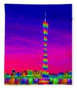 Canton Tower  Fleece Blanket