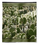 Canvas Of Cacti Fleece Blanket