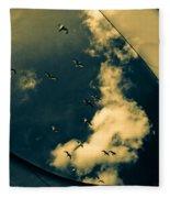 Canvas Seagulls Fleece Blanket