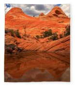 Canyon Reflections At Yant Flat Fleece Blanket