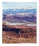 Canyonland Panorama Fleece Blanket