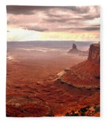 Canyonland Rain Fleece Blanket