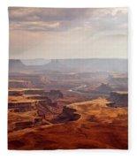 Canyonlands Panorama Fleece Blanket