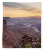 Canyonlands Sunrise Fleece Blanket