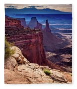 Canyonlands Vista  Fleece Blanket