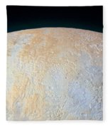 Canyons Around Plutos North Pole Fleece Blanket