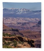 Canyons Of Dead Horse State Park Fleece Blanket