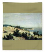 Cape Ai-todor Crimea 1879 21h33 5 Ivan Ivanovich Shishkin Fleece Blanket