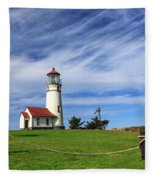 Cape Blanco Lighthouse Above The Rope Fleece Blanket