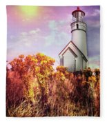 Cape Blanco Lighthouse In Oregon Fleece Blanket