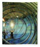 Cape Blanco Lighthouse Lens Fleece Blanket