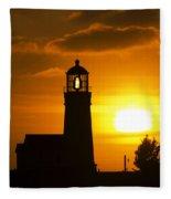 Cape Blanco Lighthouse Sunset 2 Fleece Blanket