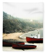 Cape Breton Fishing Boats Fleece Blanket