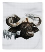 Cape Buffalo Fleece Blanket
