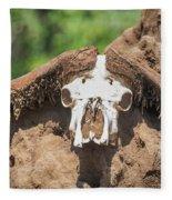Cape Buffalo Skull Fleece Blanket