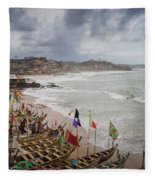 Cape Coast Fishing Village Fleece Blanket