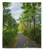 Cape Cod Rail Trail Trees Eastham Ma 2 Fleece Blanket