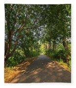 Cape Cod Rail Trail Trees Eastham Ma Fleece Blanket