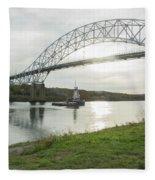 Cape Cod Sagamore Bridge Series #3 Fleece Blanket