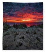 Cape Cod Sunrise Fleece Blanket