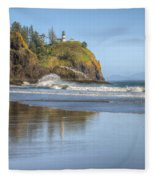 Cape Disappointment - Vertical Fleece Blanket