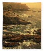 Cape Flattery Misty Morning - Washington Fleece Blanket