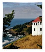 Cape Foulweather Point Fleece Blanket