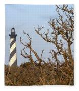 Cape Hatteras Lighthouse Through The Brush Fleece Blanket