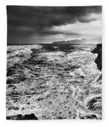 Cape Kiwanda Storm Fleece Blanket