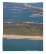 Cape Lookout Lighthouse Distance Fleece Blanket
