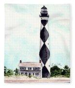 Cape Lookout Lighthouse Outer Banks North Carolina Fleece Blanket