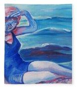 Cape May 1920s Girl Fleece Blanket