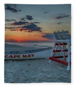 Cape May At Sunrise - Cape May New Jersey Fleece Blanket