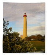 Cape May Lighthouse In Spring Fleece Blanket