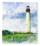 Cape May Lighthouse Fleece Blanket