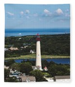 Cape May Point Lighthouse Fleece Blanket