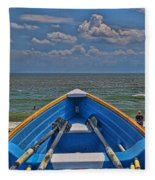 Cape May N J Rescue Boat 2 Fleece Blanket