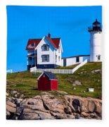 Cape Neddick Lighthouse Fleece Blanket