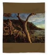 Cape Perpetua Sunset Fleece Blanket