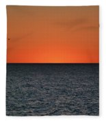 Cape San Blas Sunset Fleece Blanket