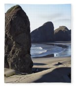 Cape Sebastian - Hunters Cove Area- Oregon Coast Fleece Blanket