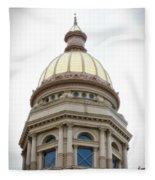 Capital Building Dome Cheyenne Wyoming Vertical 01 Fleece Blanket