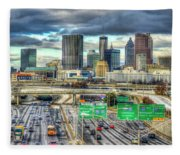 Capital Of The South Atlanta Skyline Cityscape Art Fleece Blanket