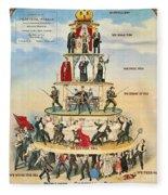 Capitalist Pyramid, 1911 - To License For Professional Use Visit Granger.com Fleece Blanket