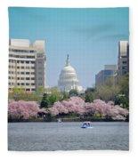Capitol Blossoms Fleece Blanket