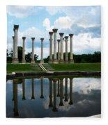 Capitol Columns, National Arboretum Fleece Blanket
