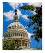 Capitol Of The United States Fleece Blanket