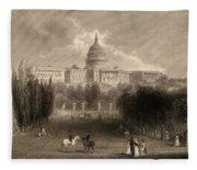 Capitol Of The Unites States, Washington D C Fleece Blanket